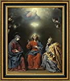 The Holy Family with God the Father and the Holy Spirit by Carlo Dolci - 18'' x 23'' Framed Giclee Canvas Art Print - Ready to Hang