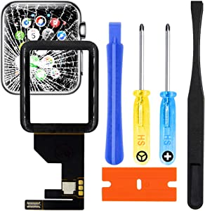 MMOBIEL Front Glass Lens Digitizer Replacement Repair Kit incl Connector Compatible with Apple Watch Series 1 38mm