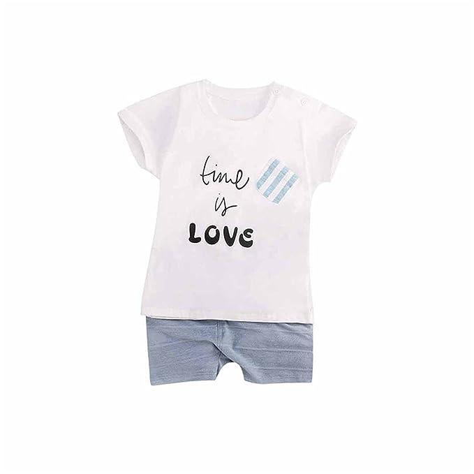 cd196a9dbd6b Amazon.com  Processes 2018 New Summer Baby Boy Sets 2Pcs Set T-Shirt+Short Kids  Clothing Cotton  Clothing