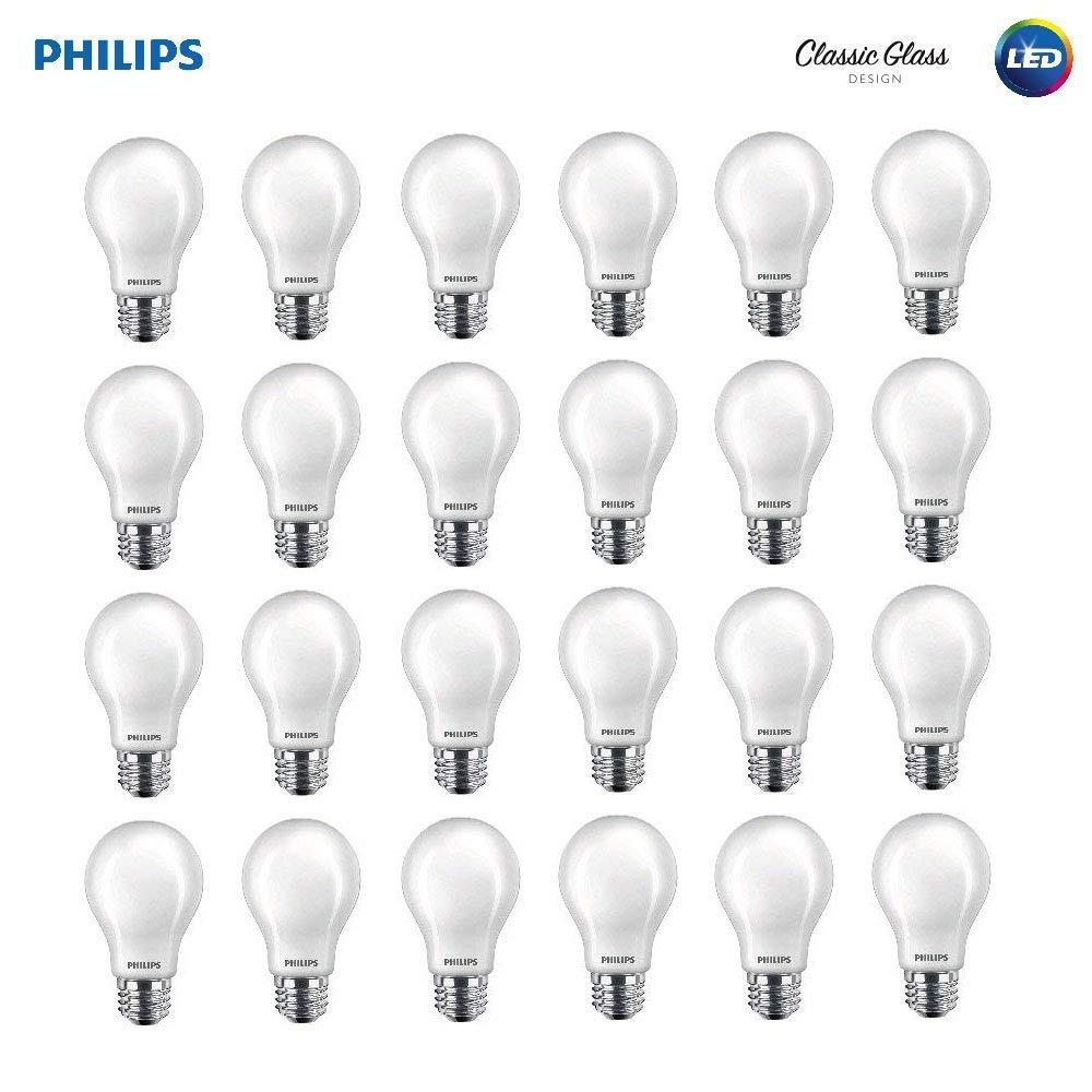 2700 Kelvin Philips Led 545921 Non Dimmable A19 Light Bulb 800 Lumen E26 Base Soft White 10 24 Count 24 Pack 60 Watt Equivalent Led Bulbs