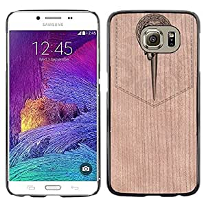 - / Bookmark Music Orchestra Magic - - Funda Delgada Cubierta Case Cover de Madera / FOR Samsung Galaxy S6 G9200 / Jordan Colourful Shop/