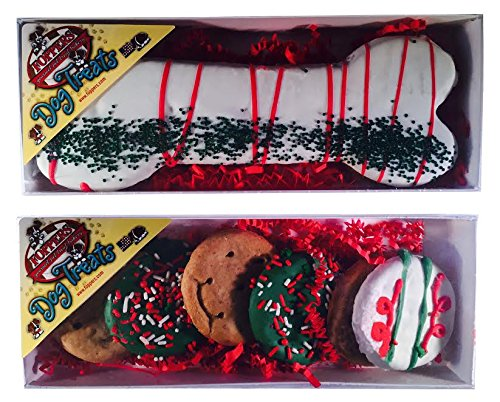 Christmas Holiday Decorated Gourmet Dog Treats, Bones or Rings, USA Made