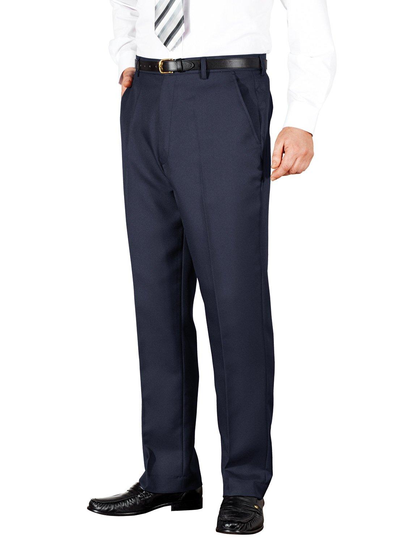 Savane Mens Flat Front Premium Flex Twill Pant