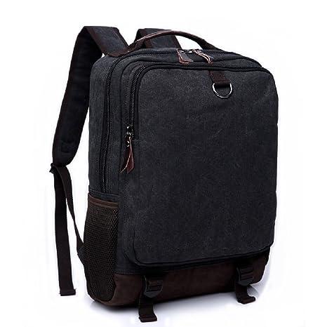 LF&F Lienzo retro bolso de hombro al aire libre de ocio de moda bolsa de ordenador portátil ...