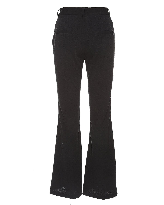 e43c7212018d7 GAMISS - Pantalon - Bootcut - Uni - Femme Noir Noir - Noir - XL: Amazon.fr:  Vêtements et accessoires