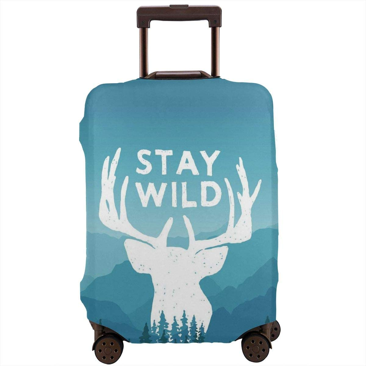 Luggage Cover Stay Wild Adventure Wilderness Emblems Protective Travel Trunk Case Elastic Luggage Suitcase Protector Cover