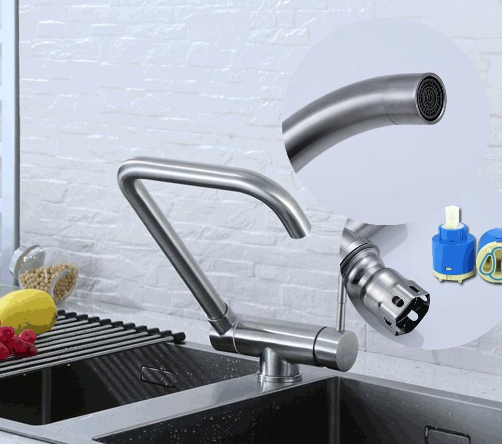 Kitchen Sink Faucets Kitchen Tap 304 Stainless Steel Kitchen Hot And ...