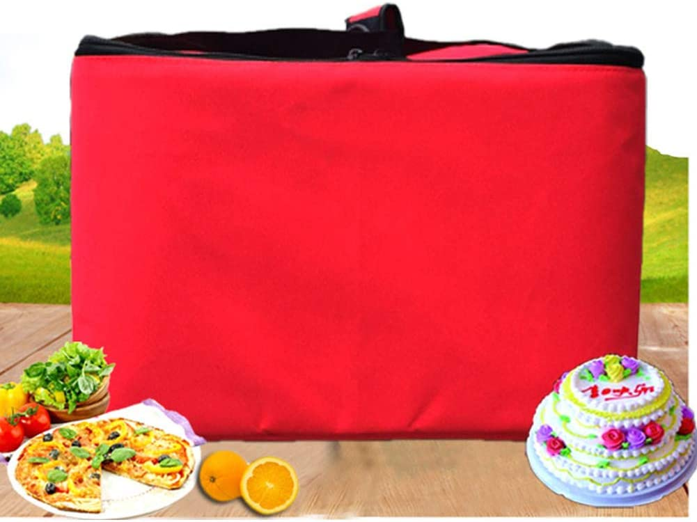 nicht null Aluminiumfolie wasserdichte Isolierung f/ür Lebensmittel YYWJ Pizzatasche 40,6 cm Pizza-Liefertasche mit Oxford-Stoff Free Size rot tragbare K/ühltasche oder hei/ße Lebensmittel