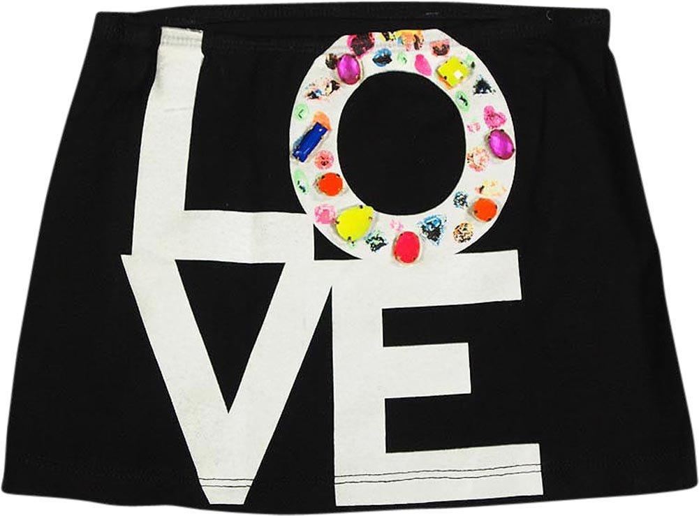 Flowers by Zoe - Little Girls's Love Skirt, Black 35683-4