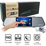"""MVOWIZON Dash Cam 5"""" Touch Screen Car Camcorder 1080P LCD Display Recorder with 150 Degree Viewing Angles Built-in G-Sensor Night Vision Recording Loop Recording and Parking Monitoring"""