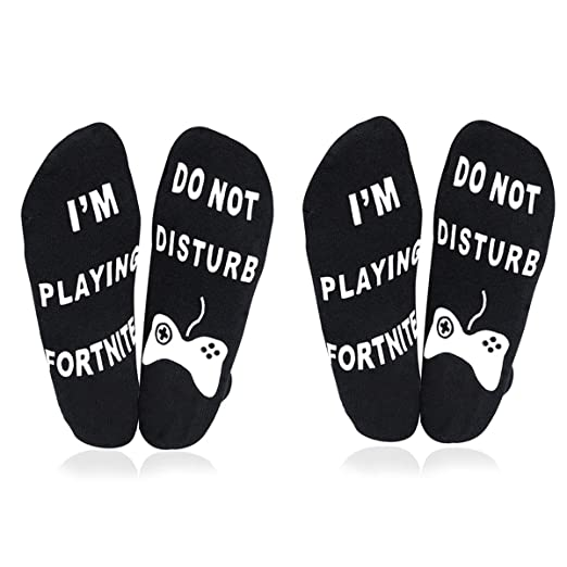 Amazon.com: ATIMIGO Do Not Disturb Im Playing Fortnite Funny Ankle Socks for Men Kids Boys- Great Gamer Gift For Fornite Lovers (2 pair black): Clothing