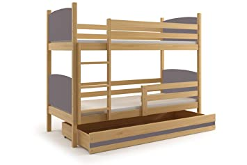 Amazon De Interbeds Tami Bunk Bett Fur Kinder Aus Holz Solide