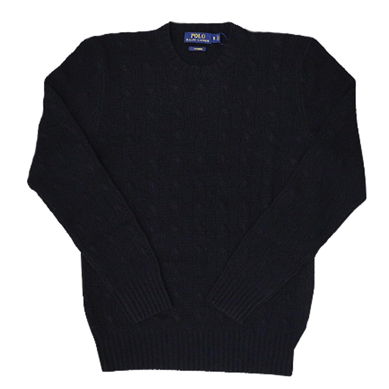 (ポロ ラルフローレン) POLO Ralph Lauren Cable-Knit Cashmere Sweater カシミア セーター ケーブルニット (並行輸入品) B015H4HBZA  POLO BLACK L