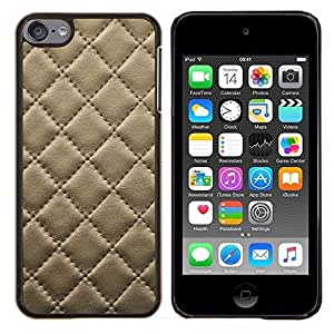 - DIAMOND PATTERN LEATHER STITCHING COOKIE CRACKER - Caja del telšŠfono delgado Guardia Armor- For Apple iPod Touch 6 6th Generation Devil Case