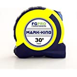 MARK-KING Tape Measure by FGPRO - 30ft - NEW INVENTION - Mistake-Free Marking