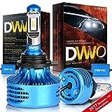 Automotive : DWVO 9012 (HIR2) LED Headlight Bulbs 6.5K 16000Lm Philips Chip Conversion Kit Hi/Lo Beam Super Bright IP68 Waterproof