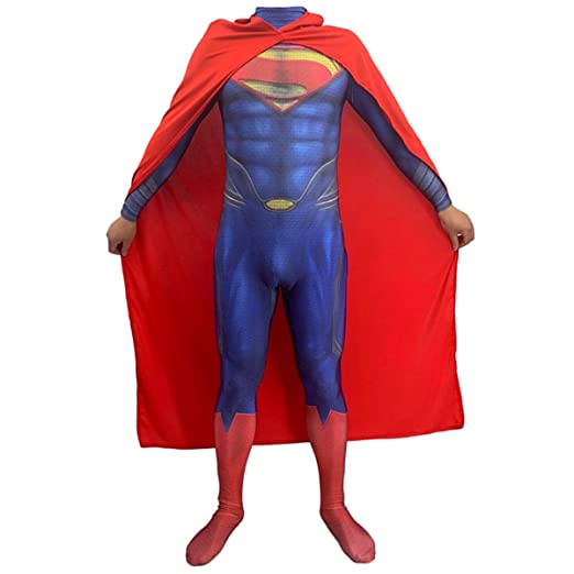 QQWE DC Hero Superman Fancy Dress Costume Movie Game ...