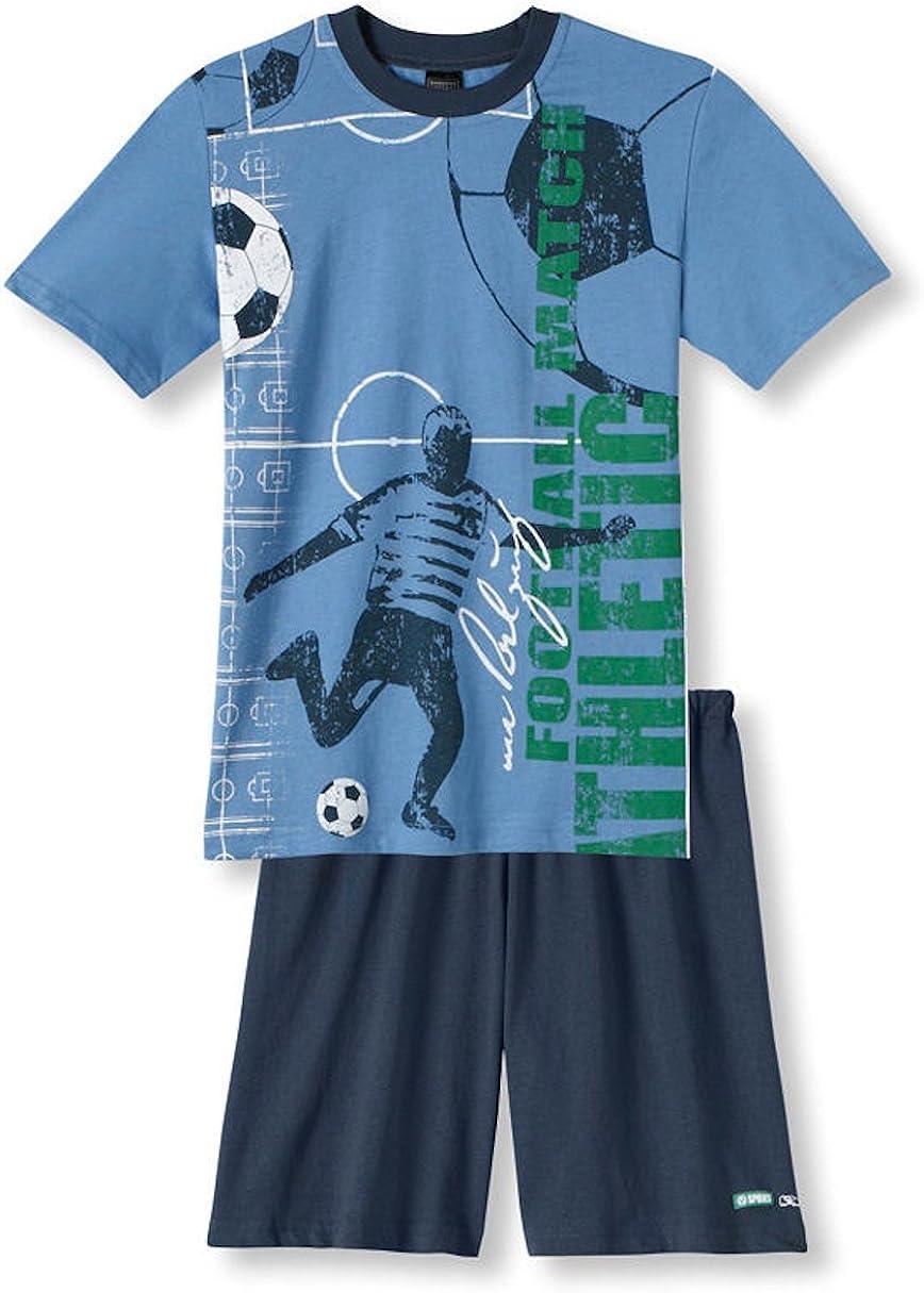 Schiesser Jungen Schlafanzug kurz Fussball Match