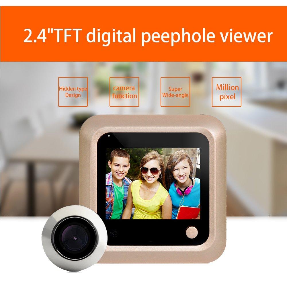SMART Vision Sonnette Sécurité Judas Camera WiFi Electronic caché type Anti-burglary Visual moniteur avec écran 6,1cm HD 1080p écran 160degrés Angle de vision de nuit pour système de sécur