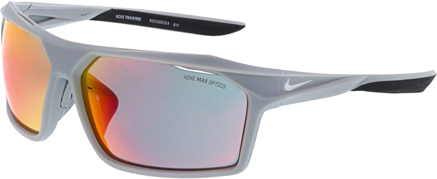 NIKE EV1033-014 Traverse R Sunglasses (ML Infrared Lens), Matte Wolf Grey/White by NIKE