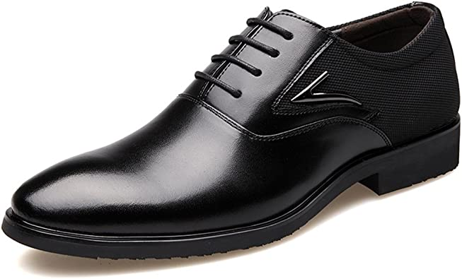 ZLY Men's Dress Shoes Casual Wide Width