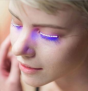 68207366169 Amazon.com : LED Eyelashes with Sound Control Waterproof Light F.Lashes  Unisex Luminous Shining Charming Eyelid Tape Glowing False Lashes for Party  Bar ...