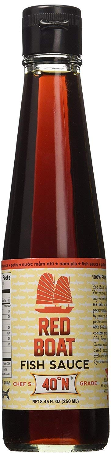 Red Boat - Fish Sauce, 8.45 Ounce - Chef's Grade, Gluten Free, Sustainably Sourced & Artisan Processed, 100% Pure, Protein Rich, No Added MSG or Preservatives.