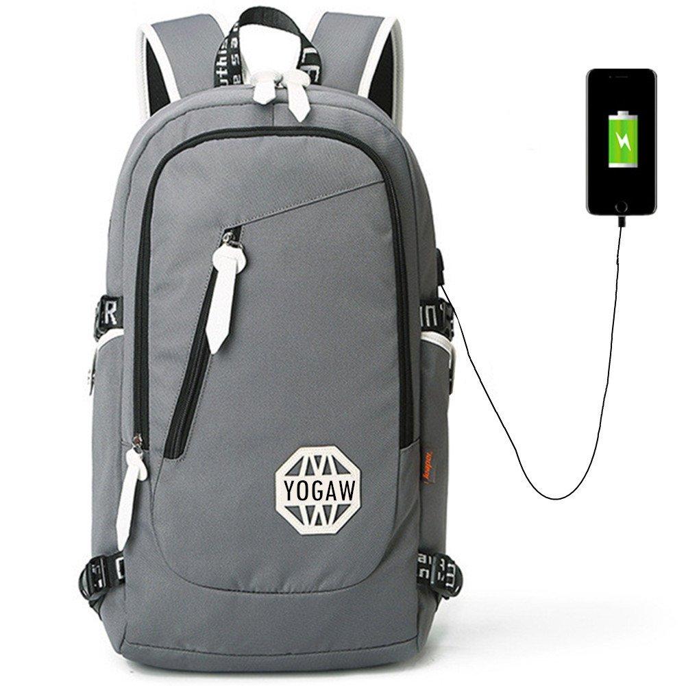 Yogaw Business Daypacks Laptop Backpack 15.6 School Bookbag Trekking Rucksacke with USB Charging port