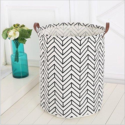 Storage Bins, Canvas Storage Bags/ Baskets Nursery Toy Storage/ Toy Organizers Laundry Baskets/ Hampers (Zigzag)