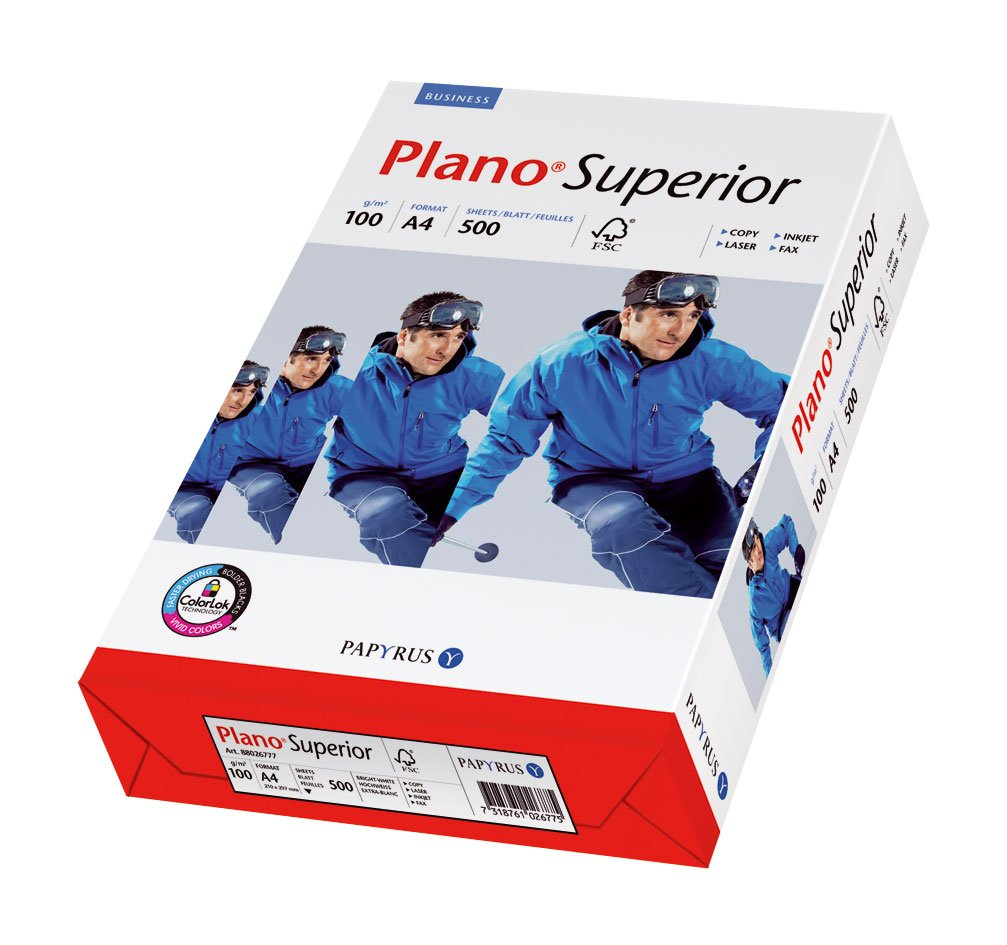 A4 250 Blatt wei/ß Papyrus 88026782 Druckerpapier PlanoSuperior 100 g//m/²