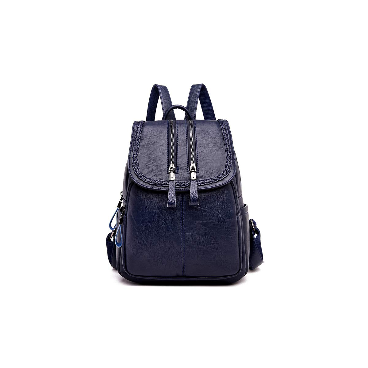 Simple Fashion Black//Red//Blue Haoyushangmao Girls Multifunctional Backpack for Daily Travel//Tourism//School//Work//Fashion//Leisure PU Leather Color : Blue, Size : 26cm31cm11cm