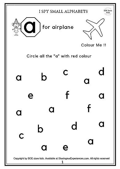 Buy SOE Store Kids Preschool Alphabets Activity Worksheets ...