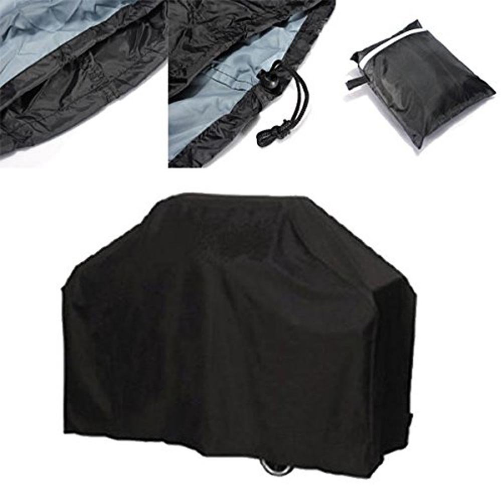 BBQ Grill Cover 57.1x24x46.1inch BBQ Cover Waterproof UV Protection Outdoor BBQ Smoker Cover for Weber, Holland, Jenn Air, Brinkmann & Char Broil, with Storage Bag, Black Aseeker