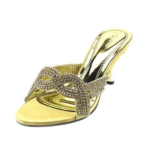 152c2f87a73 Kick Footwear - Womens Ladies Low Kitten Heel Wedding Shoes - UK3   EU36