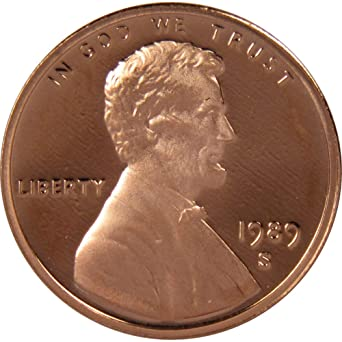 1989-S 1c Lincoln Cent Penny Choice Proof at Amazon's Collectible