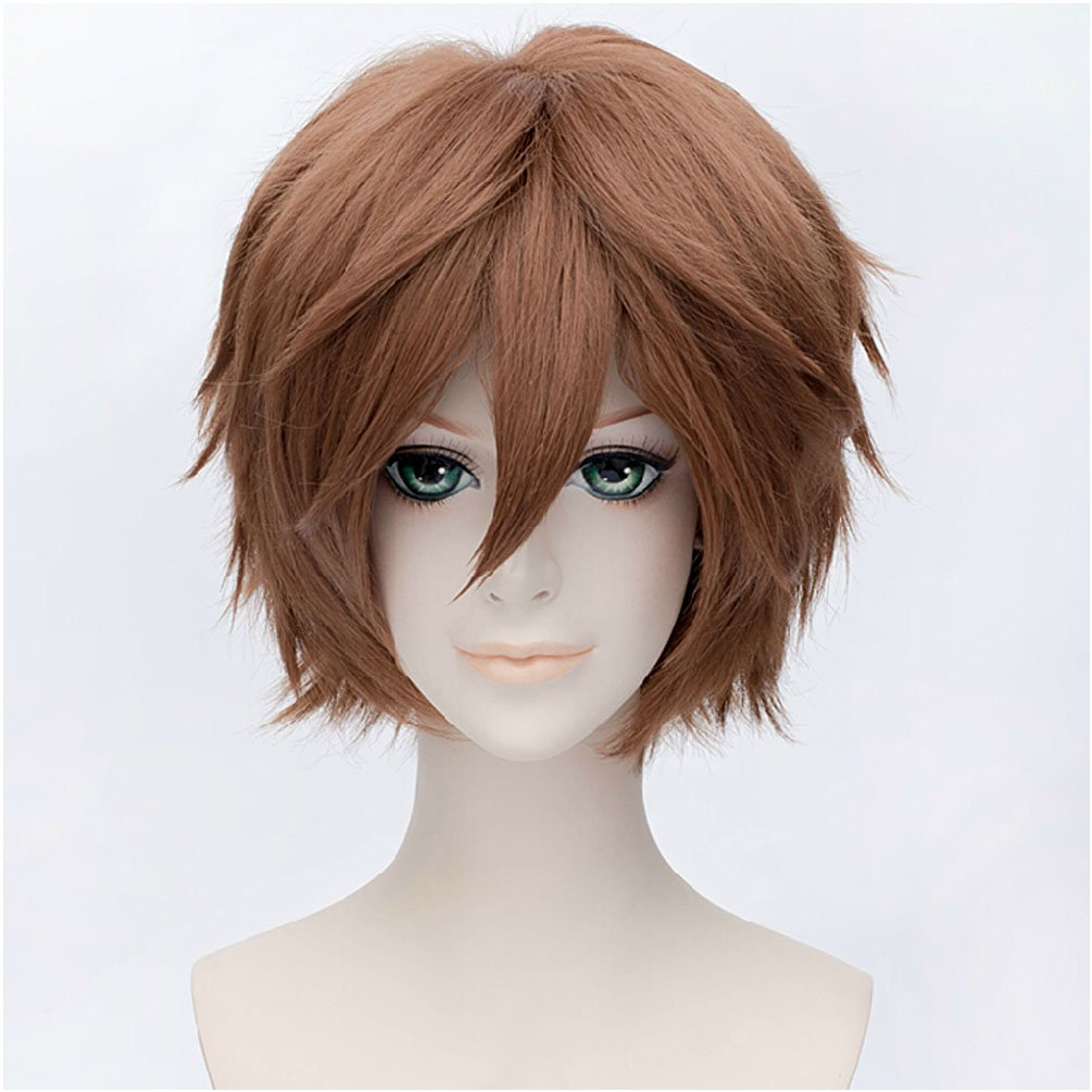 16bede94c Amazon.com : Flovex Short Straight Anime Cosplay Wigs Natural Sexy Costume  Party Daily Hair (Brown 1) : Beauty