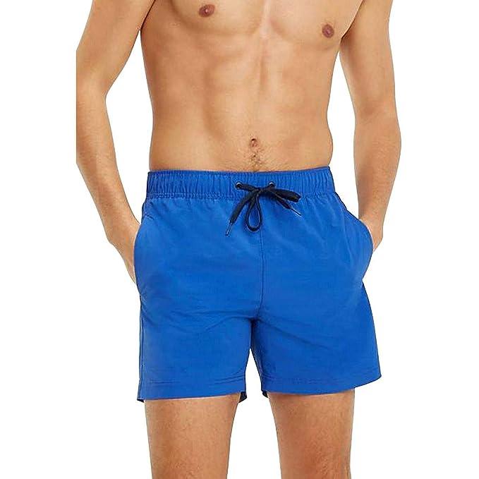 Tommy Hilfiger UM0UM01079 Traje de Bano Hombre Azul L ...