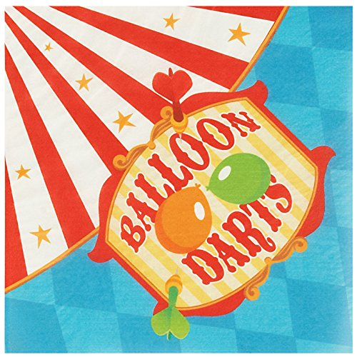 BirthdayExpress Carnival Games Party Supplies - Lunch Napkins -