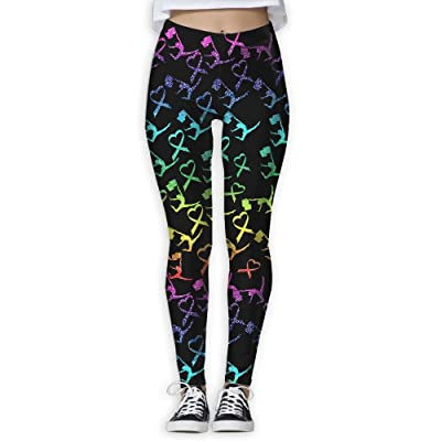 Oiybab Sofas Glitter Guard Flag Breast Cancer Awareness Juniors Full-Length Yoga Pants Fitness Workout Leggings Sizeykey
