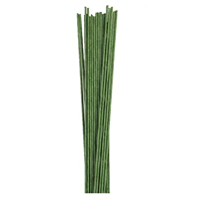 Green Paper Covered Wire. 22 Gauge X 18'' Pack of 50 Wire : Garden & Outdoor