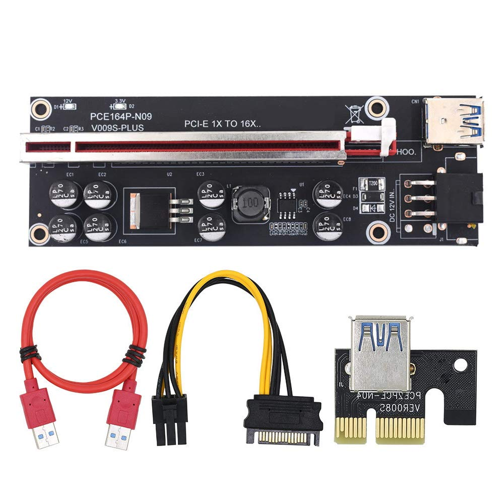 1 Pci-e Riser VER 009S Cripto mineria Con Cable SATA ALB Ven