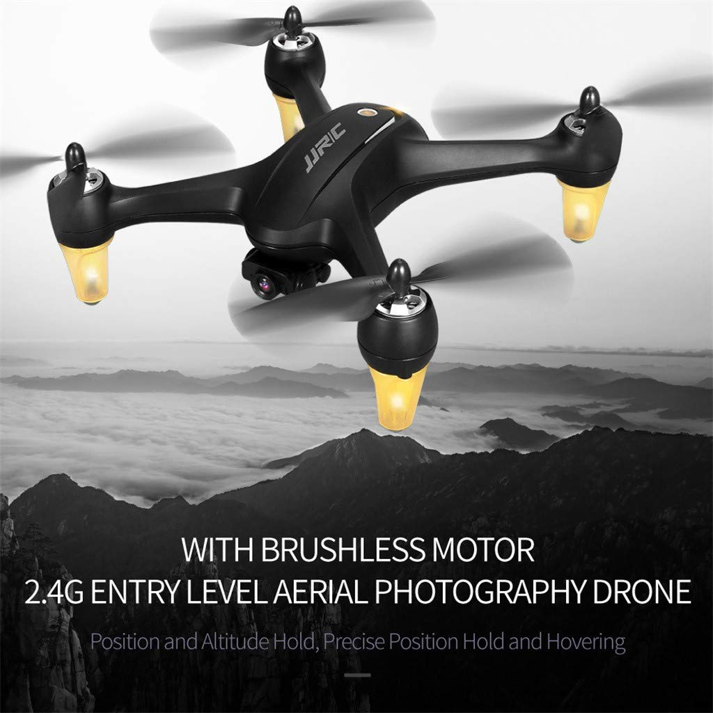 MOZATE JJR/C X3P GPS 5.8G WiFi FPV Wide-Angle 1080P Brushless RC Quadcopters Drone RTF (Black) by MOZATE (Image #5)