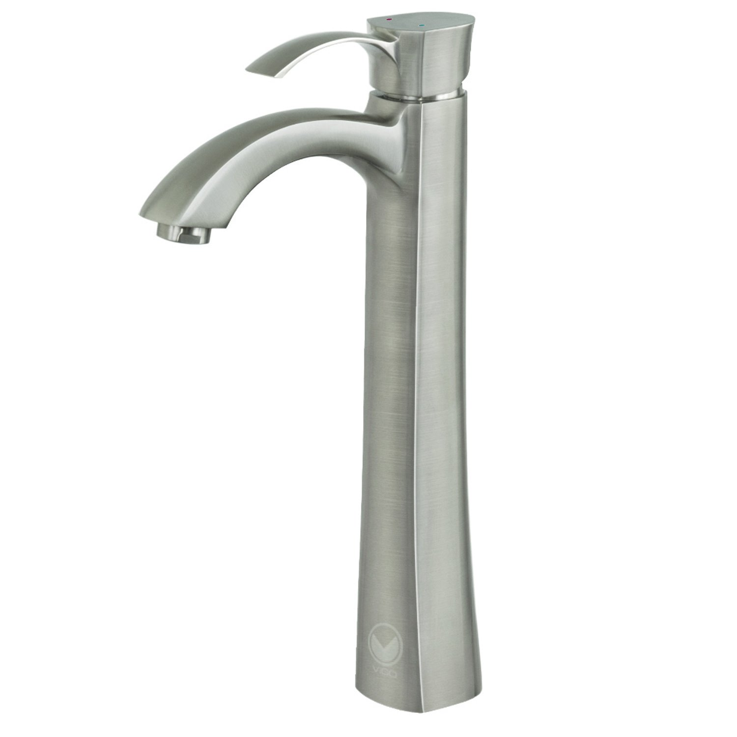 VIGO Otis Single Lever Vessel Bathroom Faucet, Brushed Nickel ...