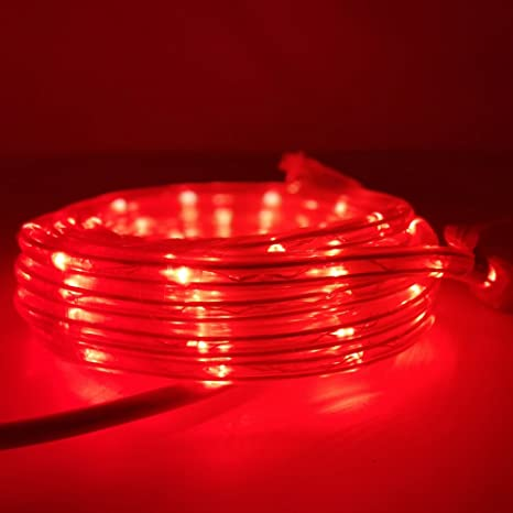 buy online 0ea77 3a055 KXY UL Certified 16 Feet 80 LED Connectable Rope Tube Light Indoor Outdoor  Party Holiday Light Red