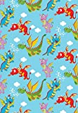 "Dragon Pals Flying Glossy Gift Wrap Roll - 24"" x 15"