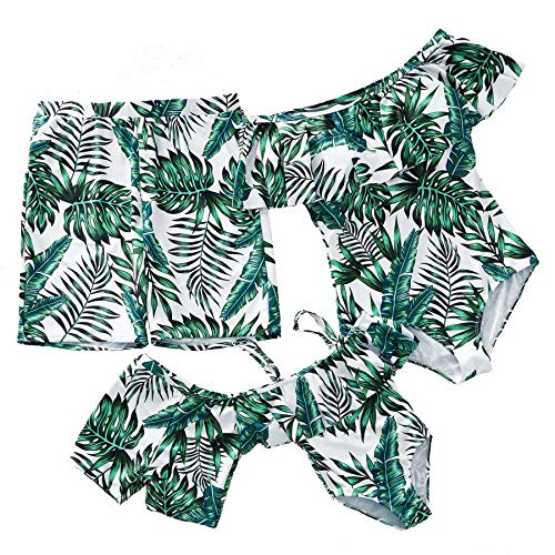 - Yaffi Newest 2019 Swimsuit Family Matching Swimsuits Women Girl Men Boy One Piece Beach Wear Sporty Monokini Bathing Swimwear Boys: 3-4 Years