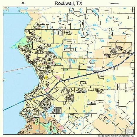 Map Of Rockwall Tx Amazon.com: Large Street & Road Map of Rockwall, Texas TX