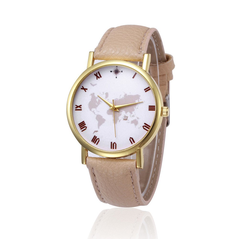 Zaidern Women Alloy Wrist Watch Womens Retro Design Waterproof Analog Quartz Classical Leather Watches Ladies Casual Simple Round Dial Leather Band Belt Wristwatch Luxury Business Retro Watches Women