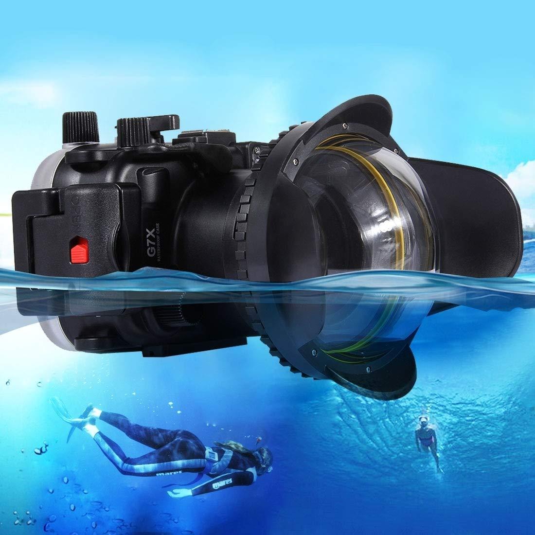 Dig 犬用骨 カメラアクセサリー 光学魚眼レンズシェード 広角ドームポートレンズ 水中ハウジングに対応 水中深度60m   B07L9Y37HM