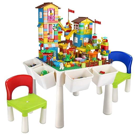 Yqihy Mesa de Actividades y Juego de sillas para niños, 4 en 1 ...